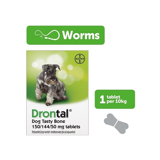 DRONTAL PLUS worming tablets for dogs - 1