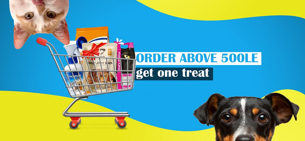 Any order above 500EGP gets a free treat
